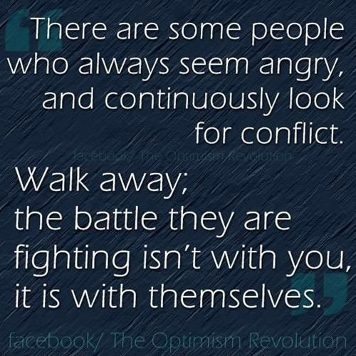 Their anger and rage is not necessarily towards you.