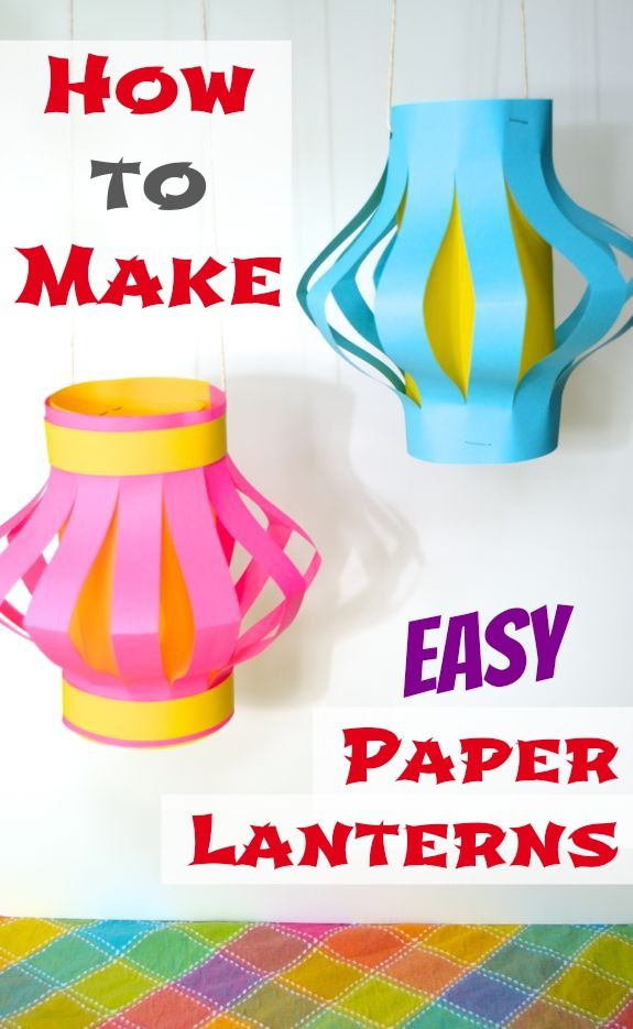 How to Make Easy Paper Lanterns -- leuk voor sint maarten