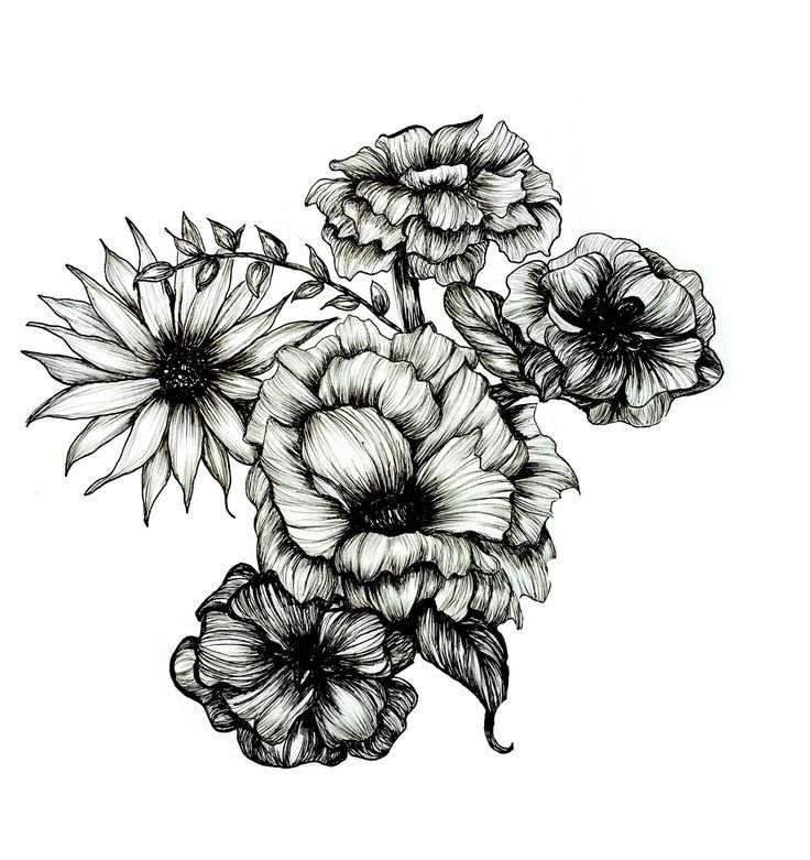Floral Ink Iii Obtain Download Floral Iii Ink Marquesan Tattoos Flower Drawing Realistic Drawings
