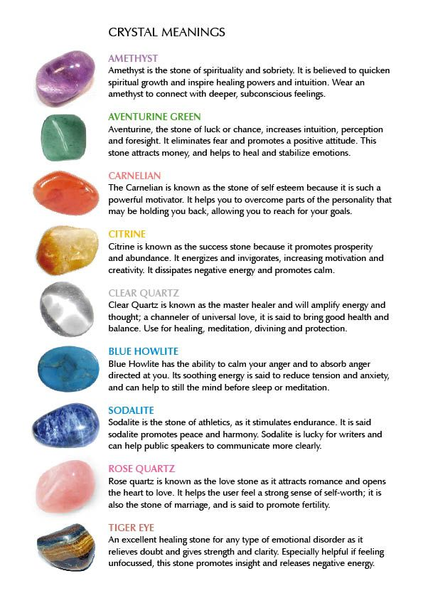 Properties of Stones and Crystals | Crystal properties