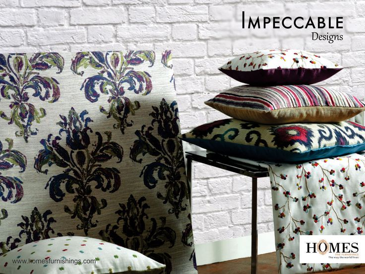 Make your #Home a fashion statement with our unique #DesignerFabrics #OnlyWithHomes!! Explore more on www.homesfurnishings.com #HomesFurnishings #Cushions #Upholstery #HomeDecor #HomeFabrics #TGIF