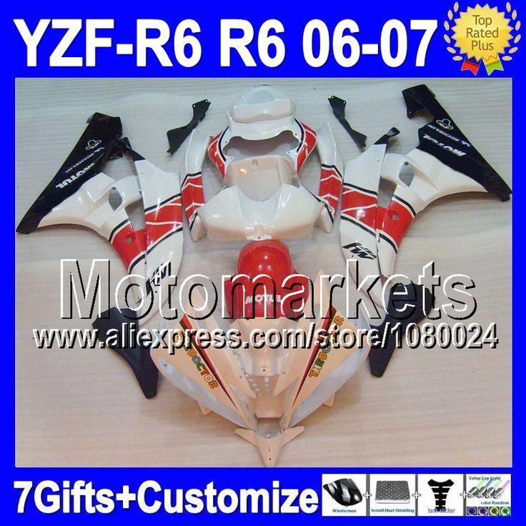 Красный черный 7 подарок + тела для YAMAHA YZF600 YZF-R6 06 07 YZF R 6 красный белый черный YZF 600 K9679 YZFR6 06-07 YZF R6 2006 2007 обтекателя
