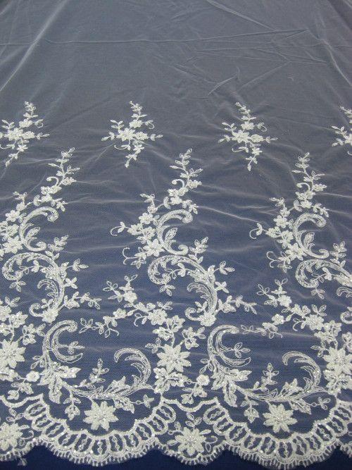 Svatební krajky a tyly na svatební šaty, šíře 130 cm - různé barvy (metráž)