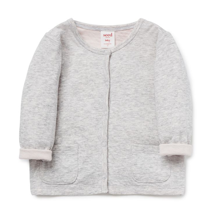 Shop now: Double Knit Cardigan. #seedheritage #seednewborn