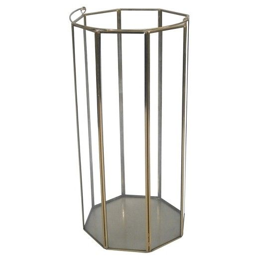 15 Quot Outdoor Lantern Stainless Steel Amp Glass Plated Gold