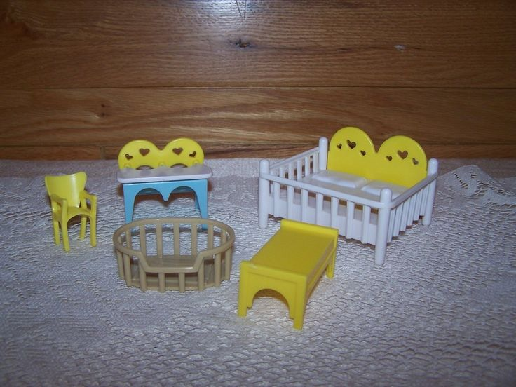 VTG 5 Piece Seven Towns Nursery Doll House 1940's-50's | eBay