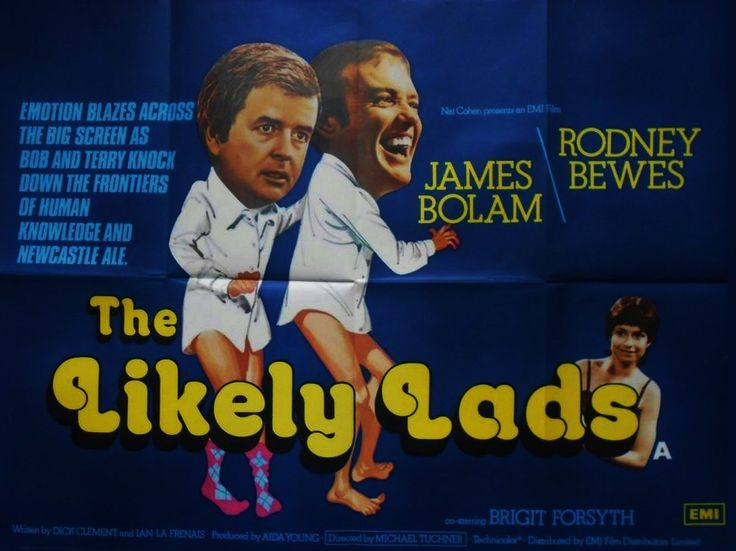Rodney Bewes, James Bolam and Brigit Forsyth in The Likely Lads.