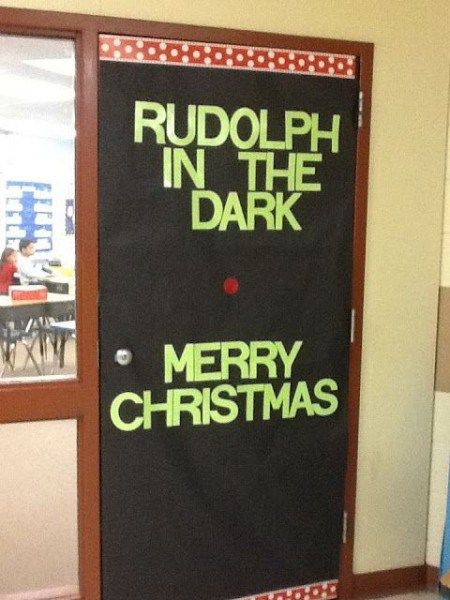 Funny Rudolph the Red Nose Reindeer Christmas Door ...