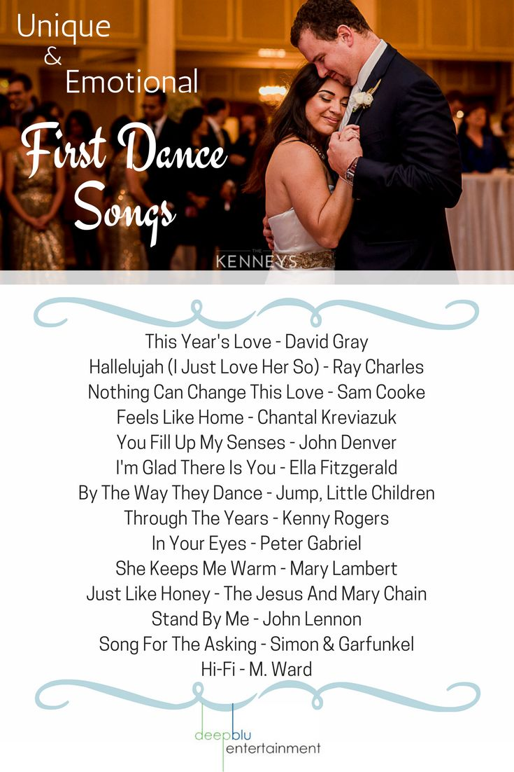 Unique & Emotional First Dance Songs