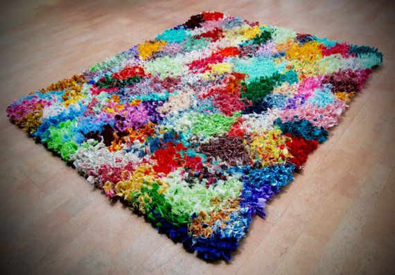Shaggy Rag Rug Proddy Colorful Multi Colors By