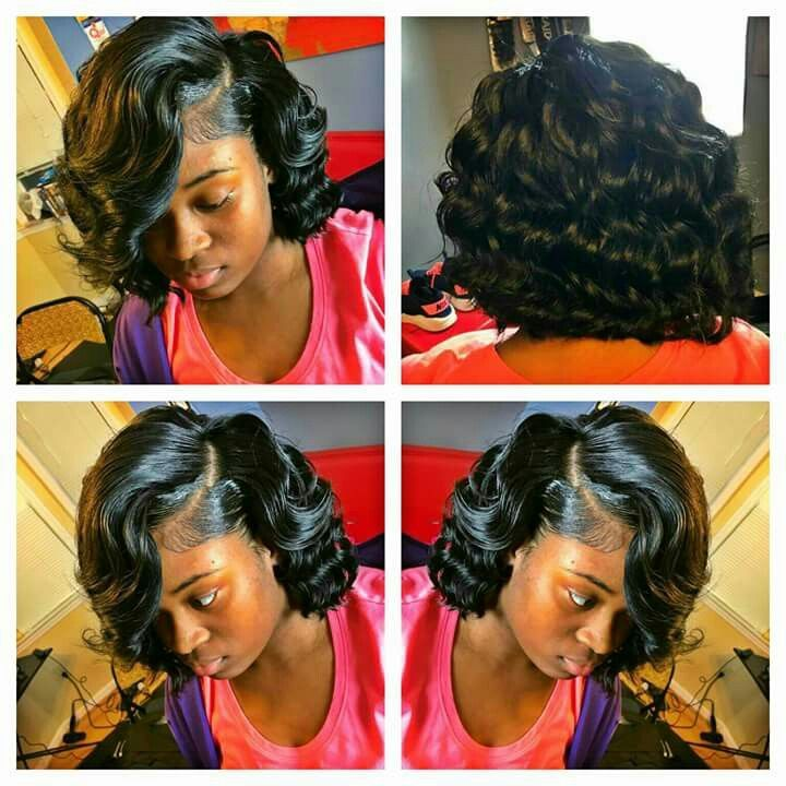 Middle Part Curled Bob With Images Gorgeous Hair Hair