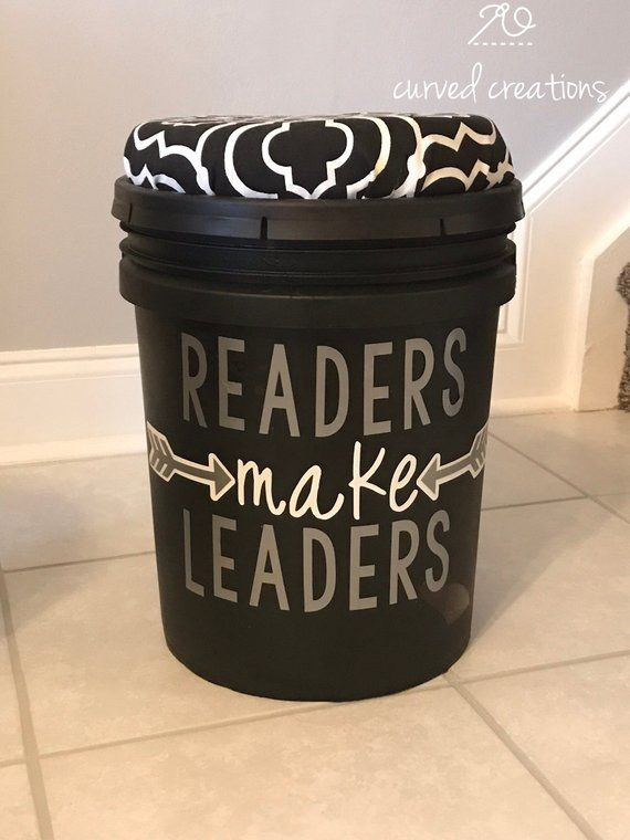 5 Gallon Bucket With Seat Cushion Lid And Decal Quote Flexible Seating Children S Stool Crate Seats Classroom Decor Classroom Furnitu Crate Seats Flexible Seating Crate Seats Classroom