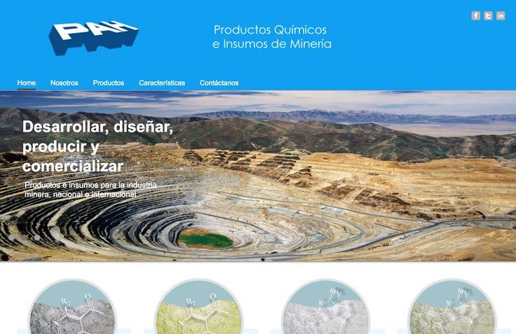 Nuevo sitio web para la empresa que sumnistra de productos biológicos y químicos para la minería PAH.cl