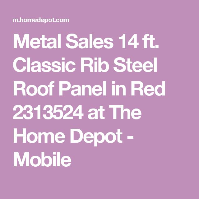 Metal Sales 14 ft. Classic Rib Steel Roof Panel in Red 2313524 at The Home Depot - Mobile