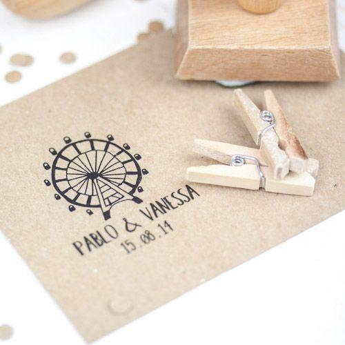 SELLO BODA PABLO & VANESSA #sello #stamp #wedding #boda
