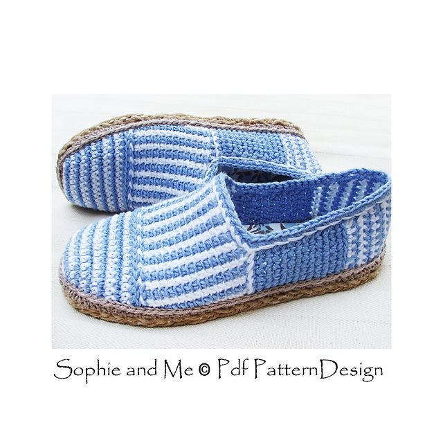 Basic Canvas-Striped Slippers, attached Cord-Soles for street-wear! Yepp... DIY Espadrilles!