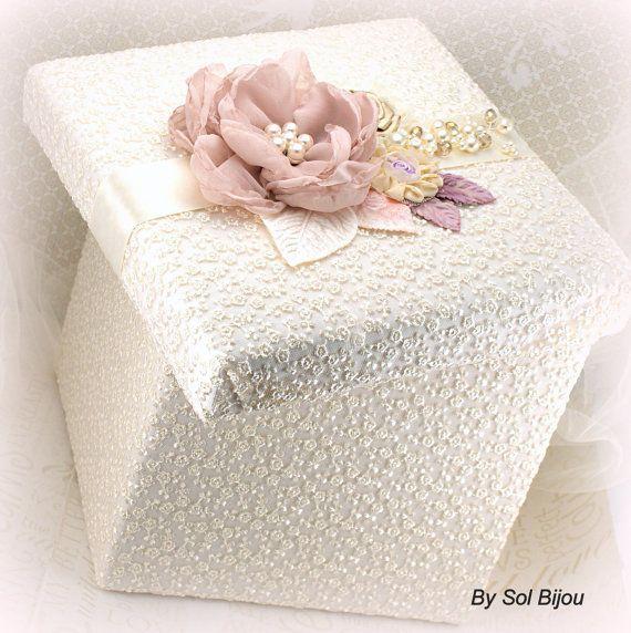 Bridal Keepsake Box Wedding Keepsake Box in Ivory by SolBijou, $95.00