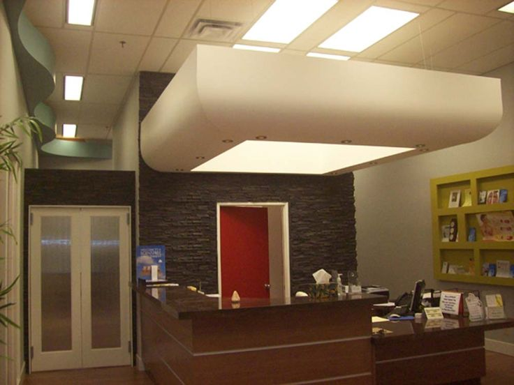 Light box and curved ceiling features