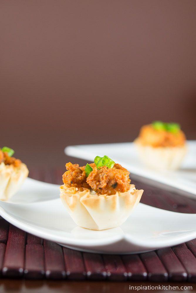 Blackened Shrimp Chipotle Slaw Phyllo Bites | Inspiration Kitchen