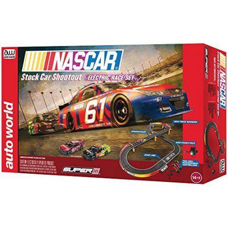 Nascar-Stock Car Shoot-Out Electric Racing Slot Car Set, Multicolor
