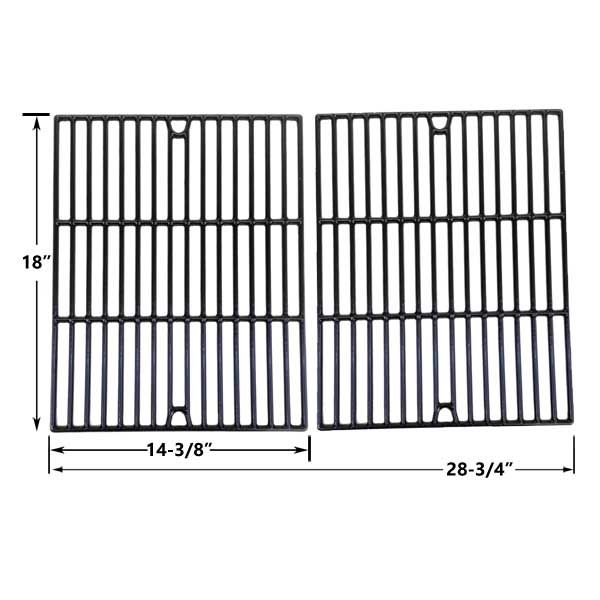 2 PACK PORCELAIN CAST IRON REPLACEMENT COOKING GRID FOR DUCANE 3073101, AFFINITY 3100, 31421001, AFINITY 3200, AFFINITY 3300, AFFINITY 3400 GAS GRILL MODELS Fits Compatible Grill Chef Models : GC7550