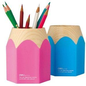 Eforcase Super Cute Pencil Top Design Pen Pencil Stand Holders Cup (Pink)