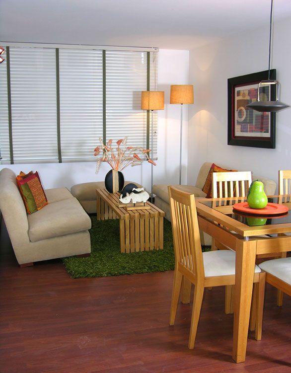 Idea para decorar sala peque a decoracion de salas sala for Diseno sala comedor espacios pequenos