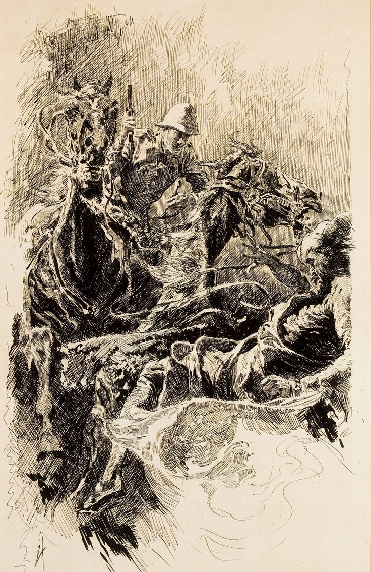JOSEPH CLEMENT COLL (American, 1881-1921). King Of The