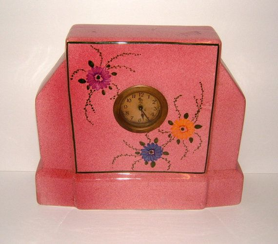 Edwardian Clock Vintage Clock Vintage Mantel by BiminiCricket