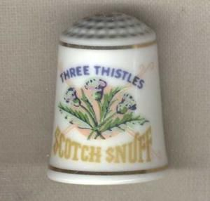 THISTLE SNUFF THIMBLE FRANKLIN MINT