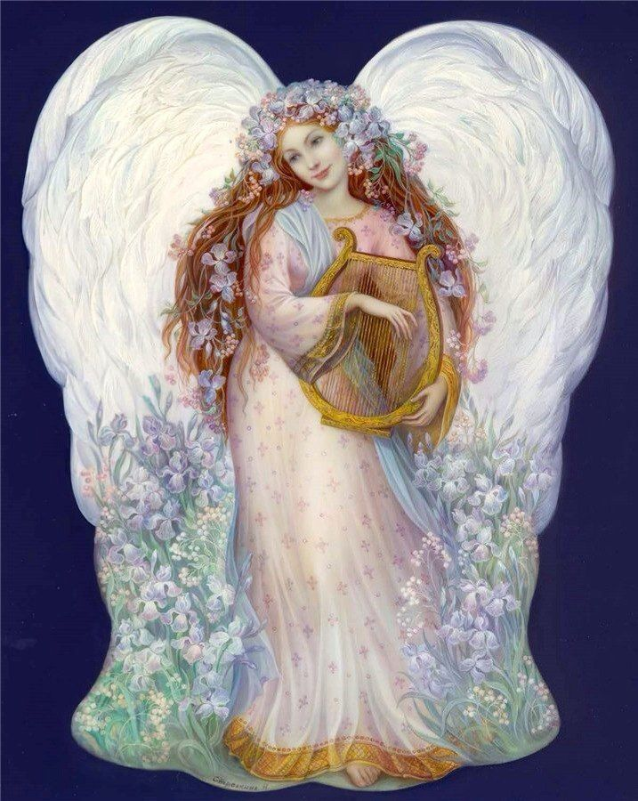 ангелы с арфами картинки так давно