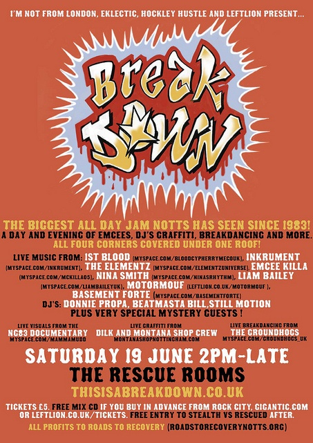 Date - Saturday 19th June   Venue - Rescue Rooms  Tax - £5 all day and night    ********** BREAKDOWN **********    Promoters from I'm Not From London, Leftlion, The Hockley Hustle and EKlectic are combining resources and energy into making this the best al The leading site in producing DJ drops and DJ jingles.  http://mydjdrop.com/