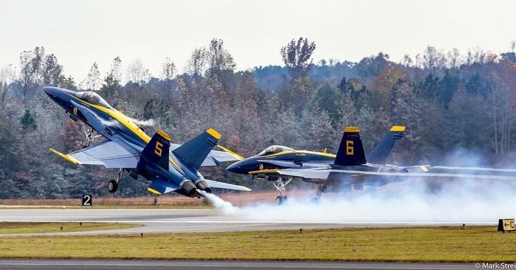 "Thanks to @sarahgraynfk for passing the #dailythemetag baton to me for Monday. I'm going with #takeoff_monday so here's a start.  2015 Great Georgia Airshow •••• US Navy Blue Angels Boeing F/A-18 Hornets ""Opposing Solo"" Pair #5 & #6 on take-off  Canon EOS 6D,  Canon EF 70-300mm f/4L IS USM #FlyNavy #USNavyBlueAngels #blueangels #usnavy #aviation  #canonusa #airshow #canon #boeing  #aircraft #jet #fighteraircraft #militaryjet #pilot #planes #aviationphotography #fa18 #fighterjet #takeoff…"
