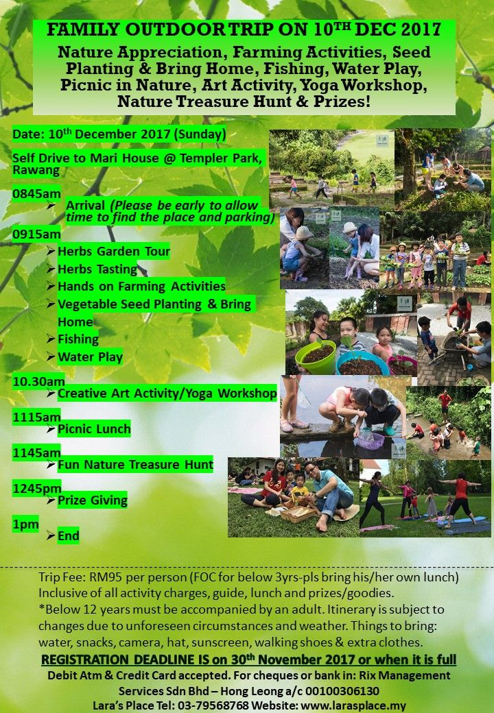 2017 Year End School Holiday Activities At Lara's Place ~ Parenting Times