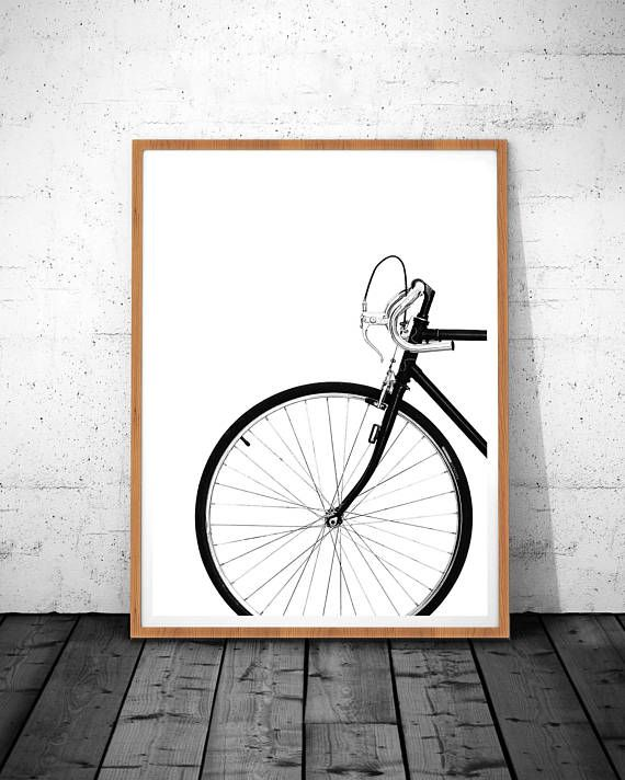 Bicycle Print, Scandinavian Prints, Printable Photo, Modern Prints, Gift for him, Boys decor, Mens r
