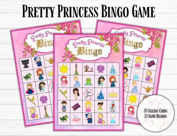 Disney Princess Bingo Game Princess Bingo Printable