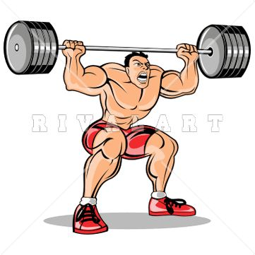 17 best awesome weight lifting clip art images on pinterest rh pinterest com weight lifting clip art logo clipart lifting weight
