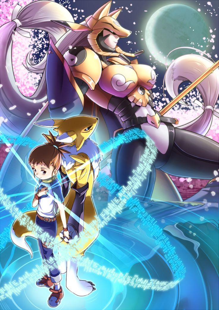 Rika, Renamon, & Sakuyamon !!