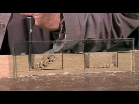 Cutting a Mortise - Mortise chisel vs bevel edge chisel - with Paul Sellers (guy awesome indeed)