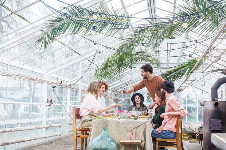 Easter greenhouse feast in spring issue of Usata magazine. Recipes for holiday gathering