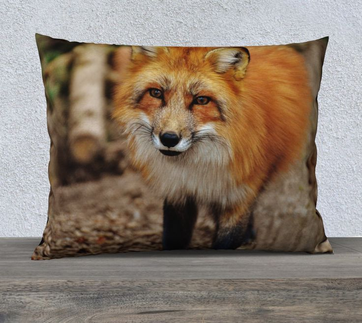 """26""""+x+20""""+pillow+""""Fox""""+by+Mixed+Imagery"""