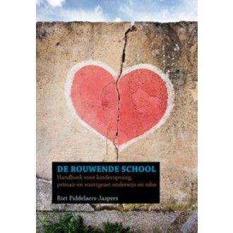 De rouwende school Handboek voor kinderopvang, primair en voortgezet onderwijs en mbo  Wanneer een kinderdagverblijf of school geconfronteerd wordt met een (plotseling)verlies, zijn er vaak vragen hoe er gehandeld moet worden.