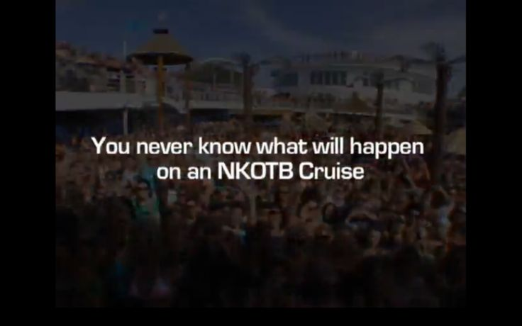 I want to go on a NKOTB CRUISE!! :)