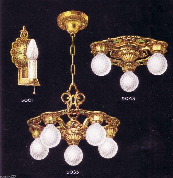 Vintage Lighting Antique Virden Set Three Ceiling Lights Two Sconces - 29 Best Virden Antique Lighting Images On Pinterest Chandeliers
