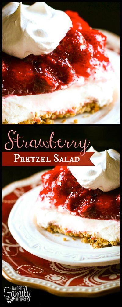 This Strawberry Pretzel Jello Salad has a crunchy pretzel crust, a smooth cream cheese filling, and a strawberry jello layer on top.This Strawberry Pretzel Jello Salad has a crunchy pretzel crust, a smooth cream cheese filling, and a strawberry jello layer on top.