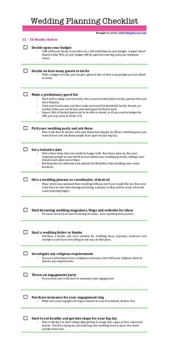 Best  Checklist For Wedding Ideas On   List For