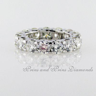 Half carat round brilliant cut diamonds in a full eternity ring