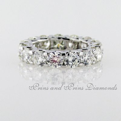 Half carat round brilliant cut diamonds in a full eternity ring