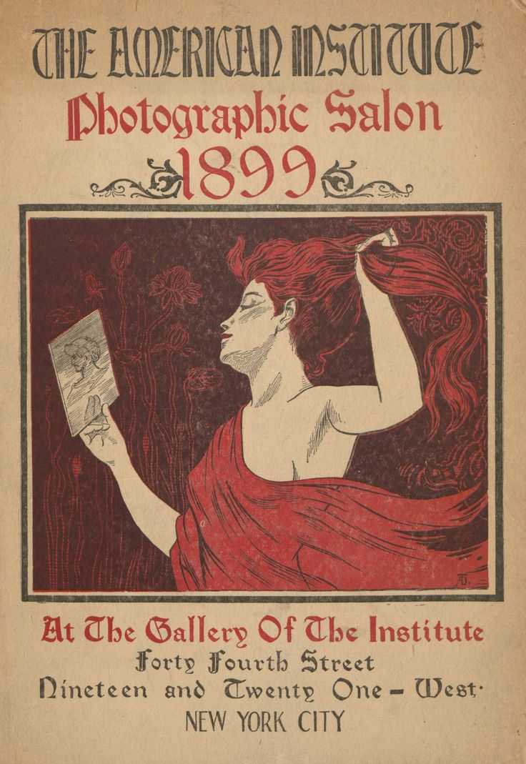 """""""Catalogue of the American Institute Photographic Salon."""" 1899.Metropolitan Museum of Art (New York, N.Y.)Pictorialist Photography Exhibition Catalogs, 1891-1914, in The Menschel Library. #photography#coverart"""