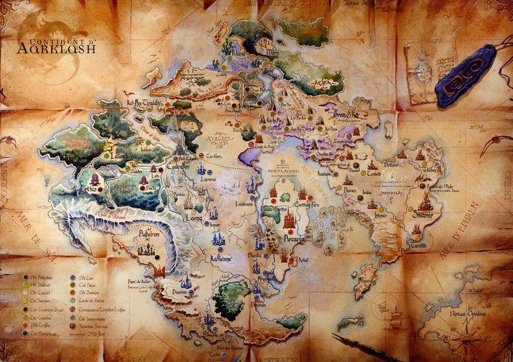 Aarklash Weltkarte - politisch